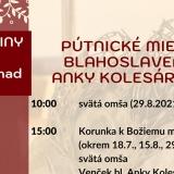 NEDEĽA 10:00 svätá omša (29.8.2021 o 10:30) 15:00 Korunka v